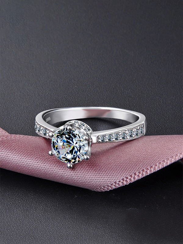 Trending S925 Silver With Zircon Wedding Rings