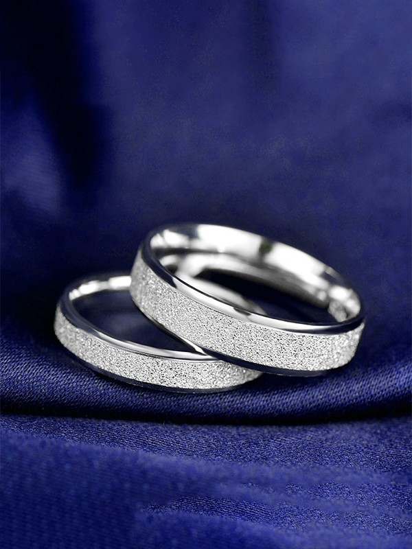 Pretty 925 Sterling Silver  Hot Sale Couple Rings