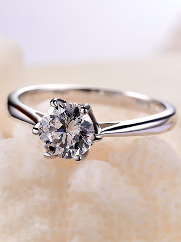 Unique 925 Sterling Silver With Zircon Hot Sale Wedding Rings