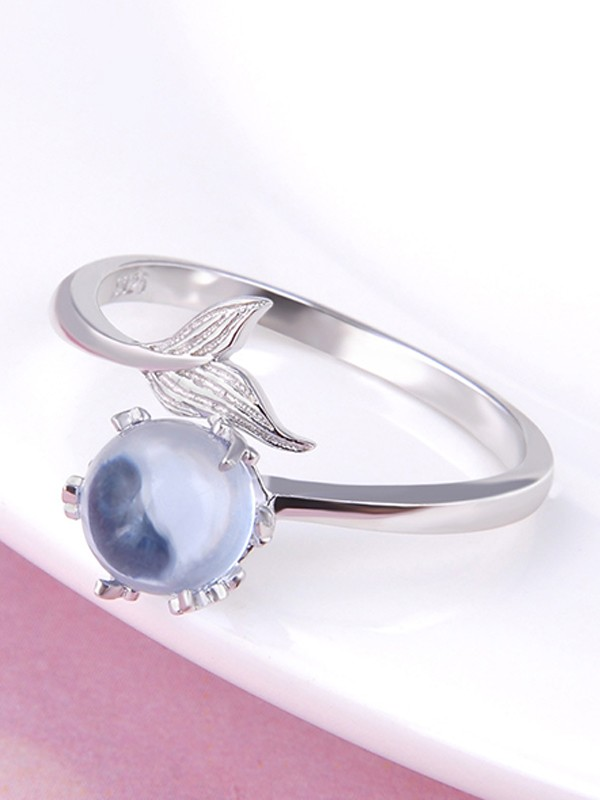 Unique S925 Silver With Crystal Adjustable Rings